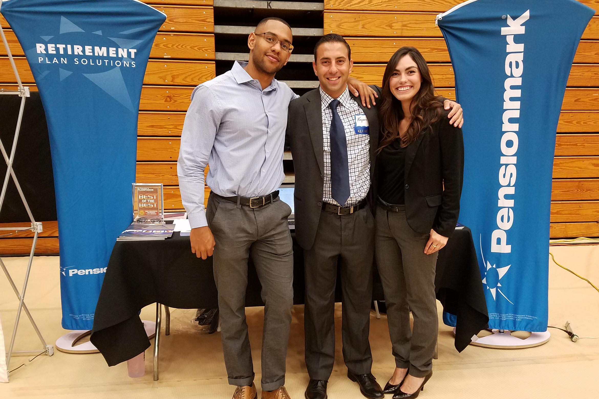 Alumni at Career Fair