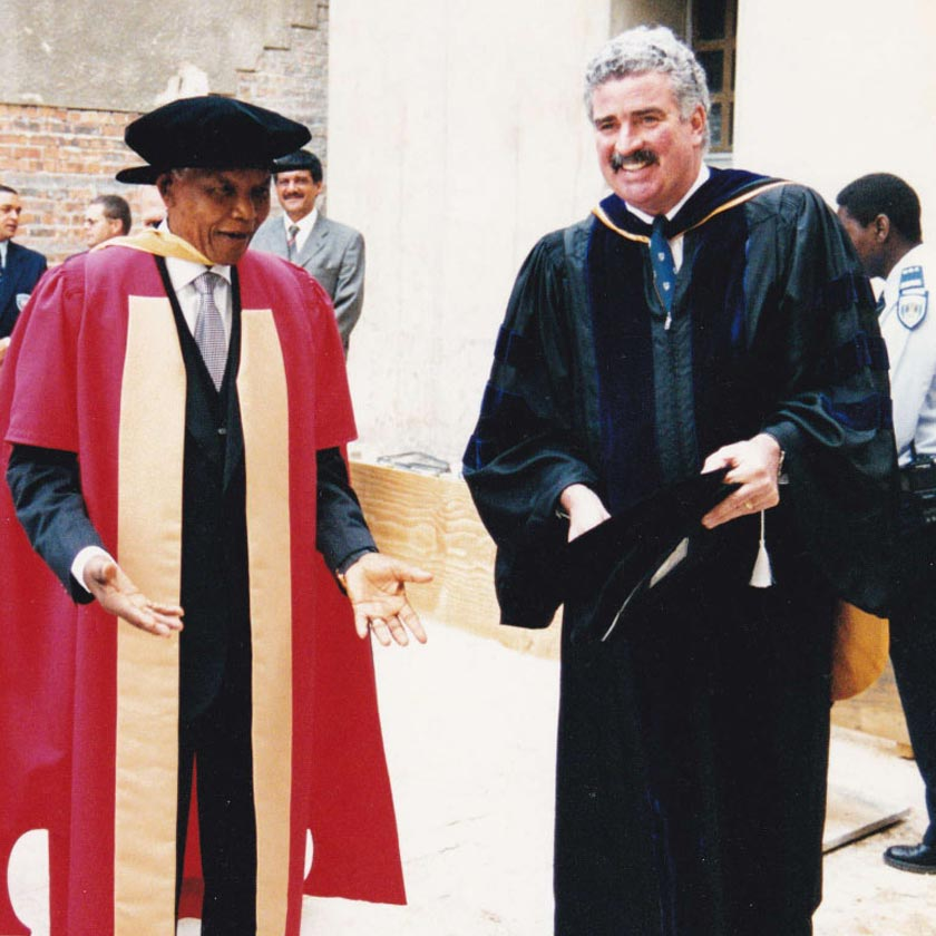 Jim McNamara with former South African President Nelson Mandela